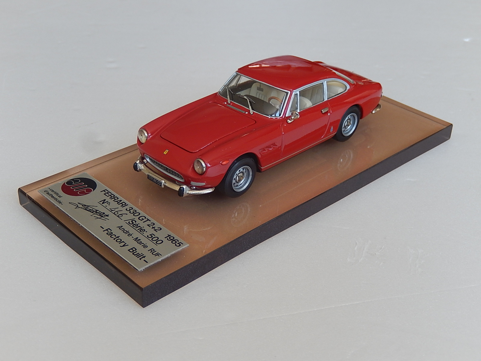 AM Ruf : Ferrari 330 GT 2+2 red