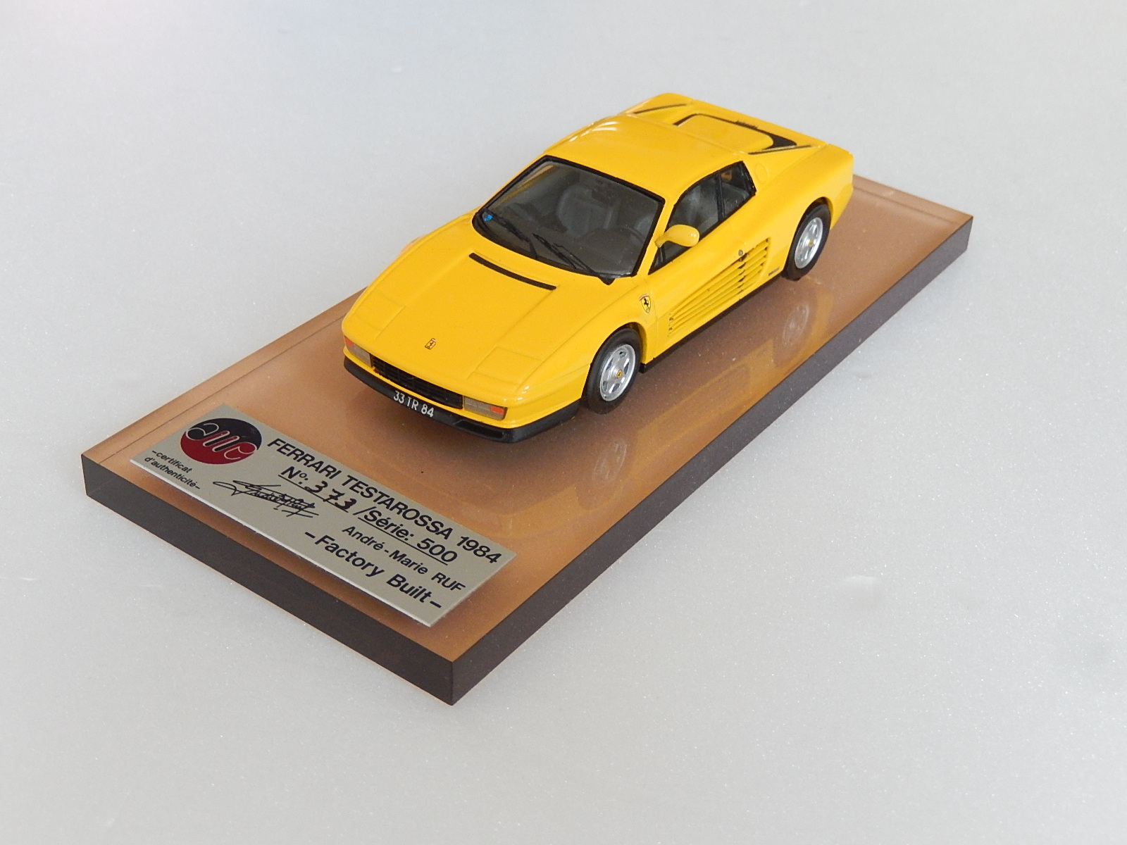 AM Ruf : Ferrari testarossa 1990 yellow