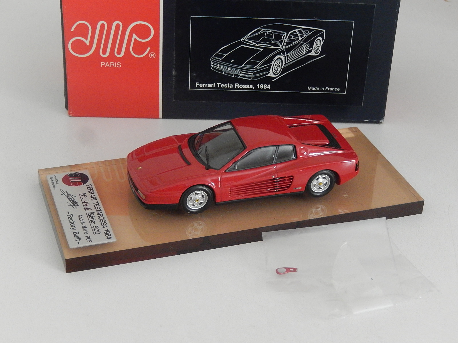 AM Ruf : Ferrari testarossa 1990 red