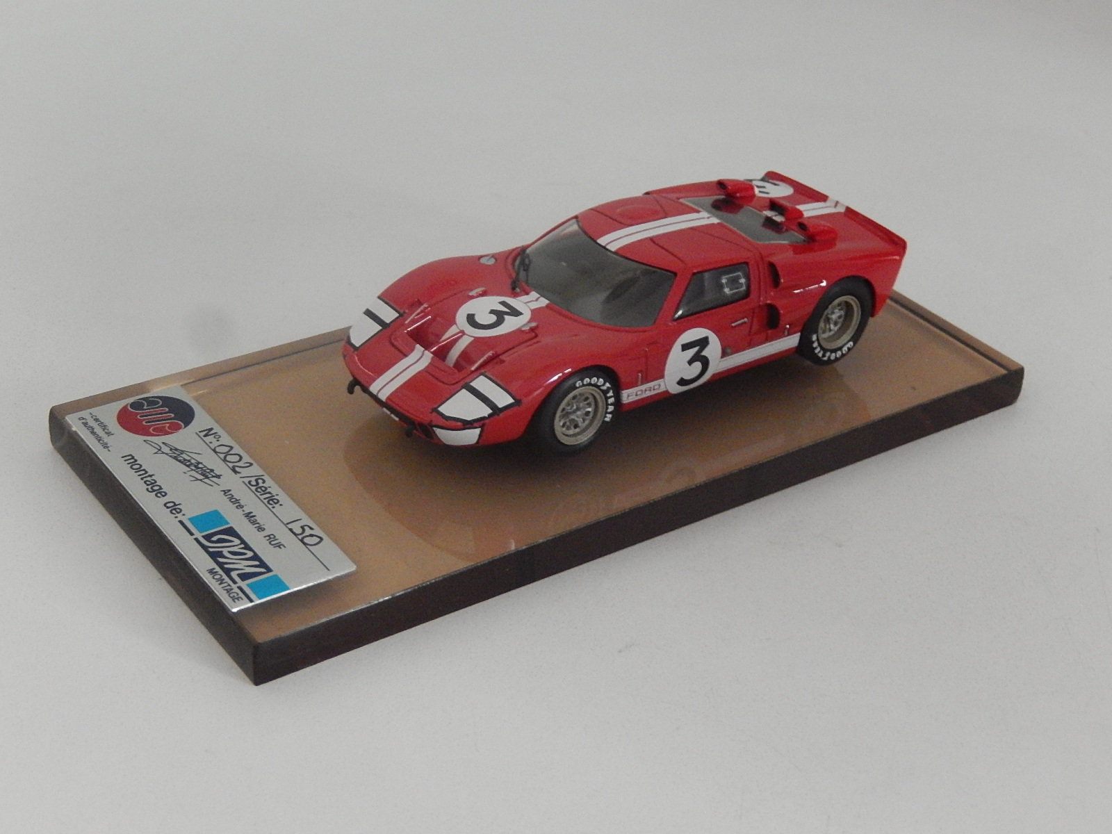 AM Ruf : Ford GT 40 Le mans 1966 n°3 --> Rare conditions !!