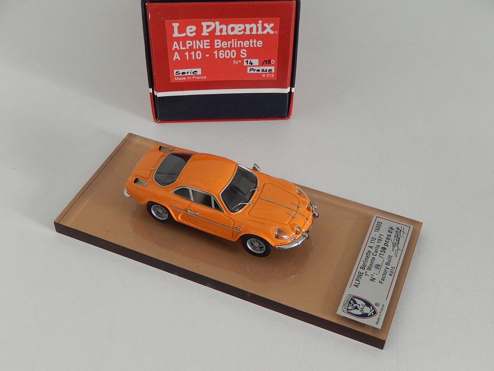 AM Ruf : Alpine A110 1600S Orange - Press version !!