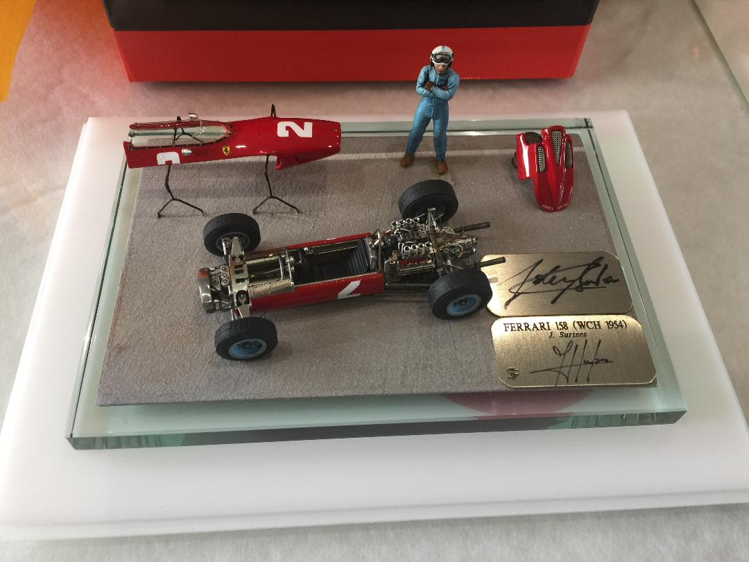 F. Suber : Ferrari 158 F1 1954 signed by J.Surtees
