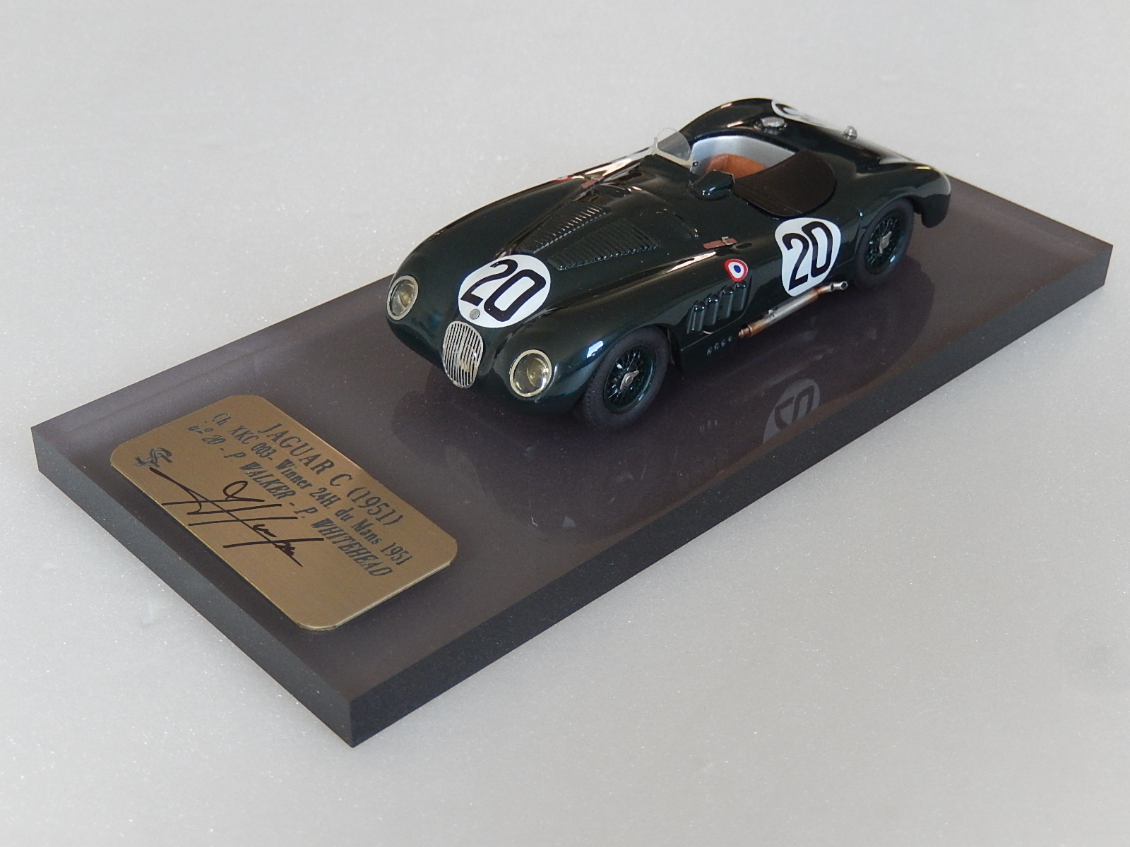 F. Suber : Jaguar Type C Winner Le Mans 1953  --> SOLD