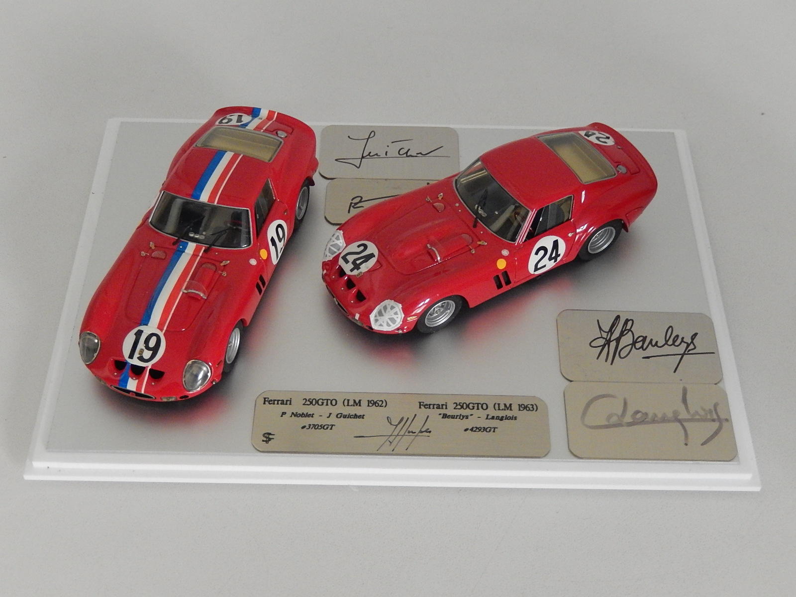 F Suber Set Ferrari 250 Gto 3705 4293 Le Mans Sold Modelart111