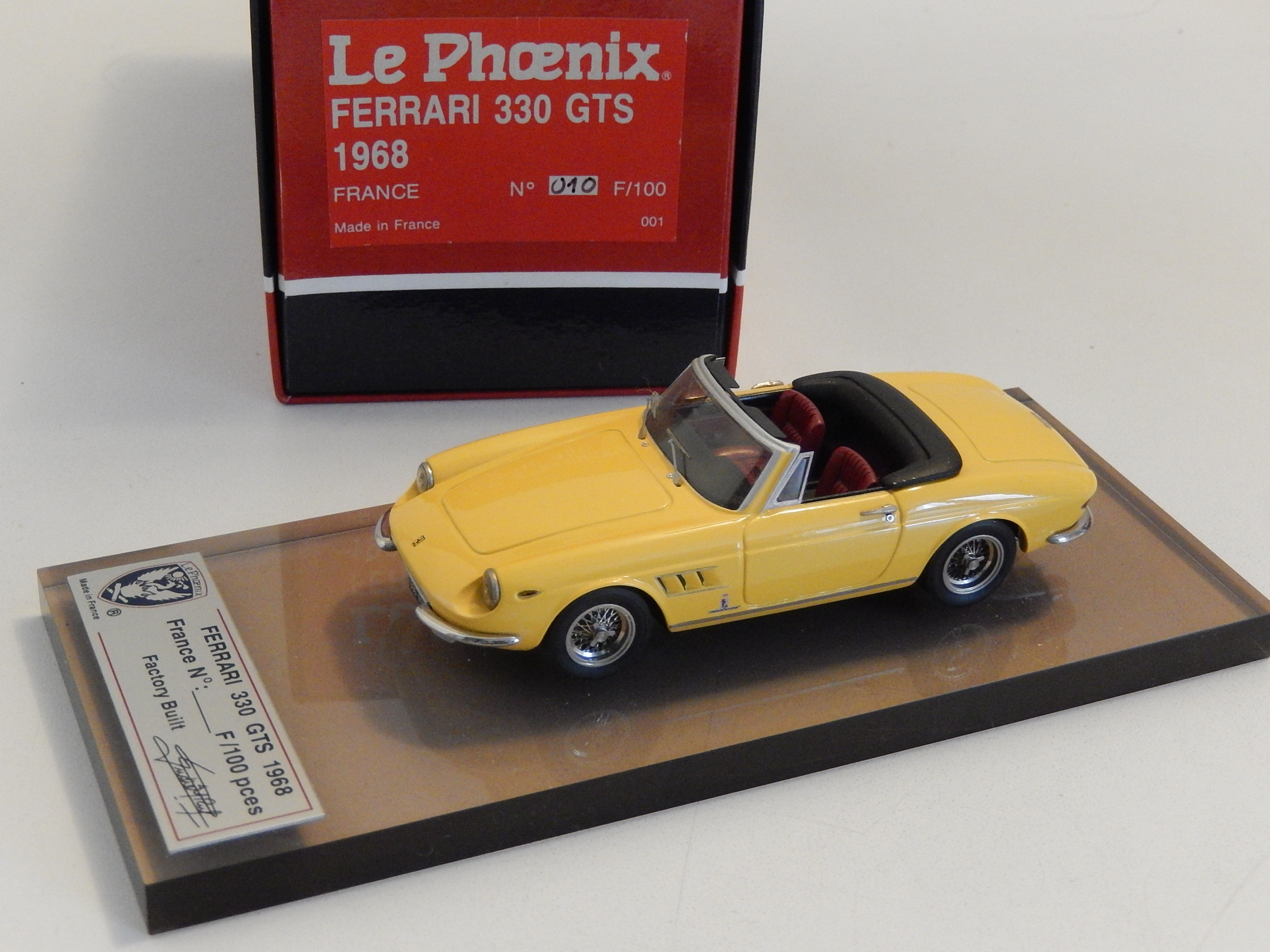 AM Ruf : Ferrari 330 GTS yellow  --> SOLD