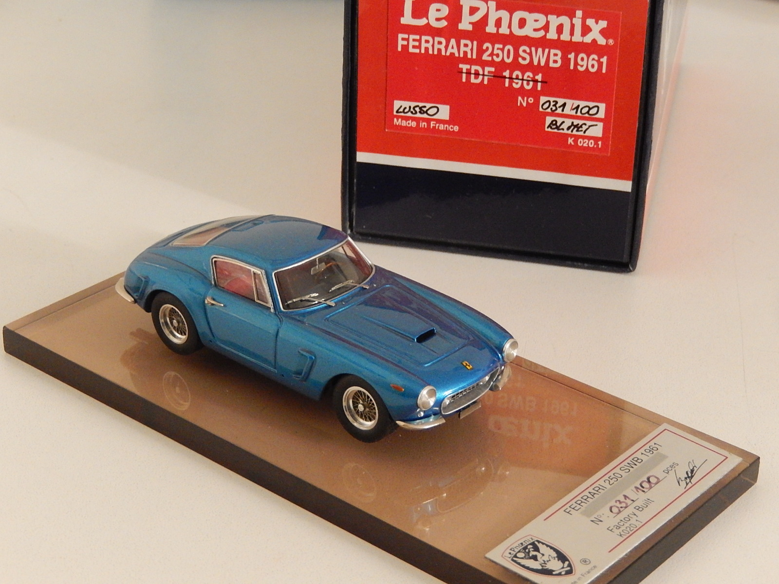 AM Ruf : Ferrari 250 SWB 1961 blue metal --> SOLD