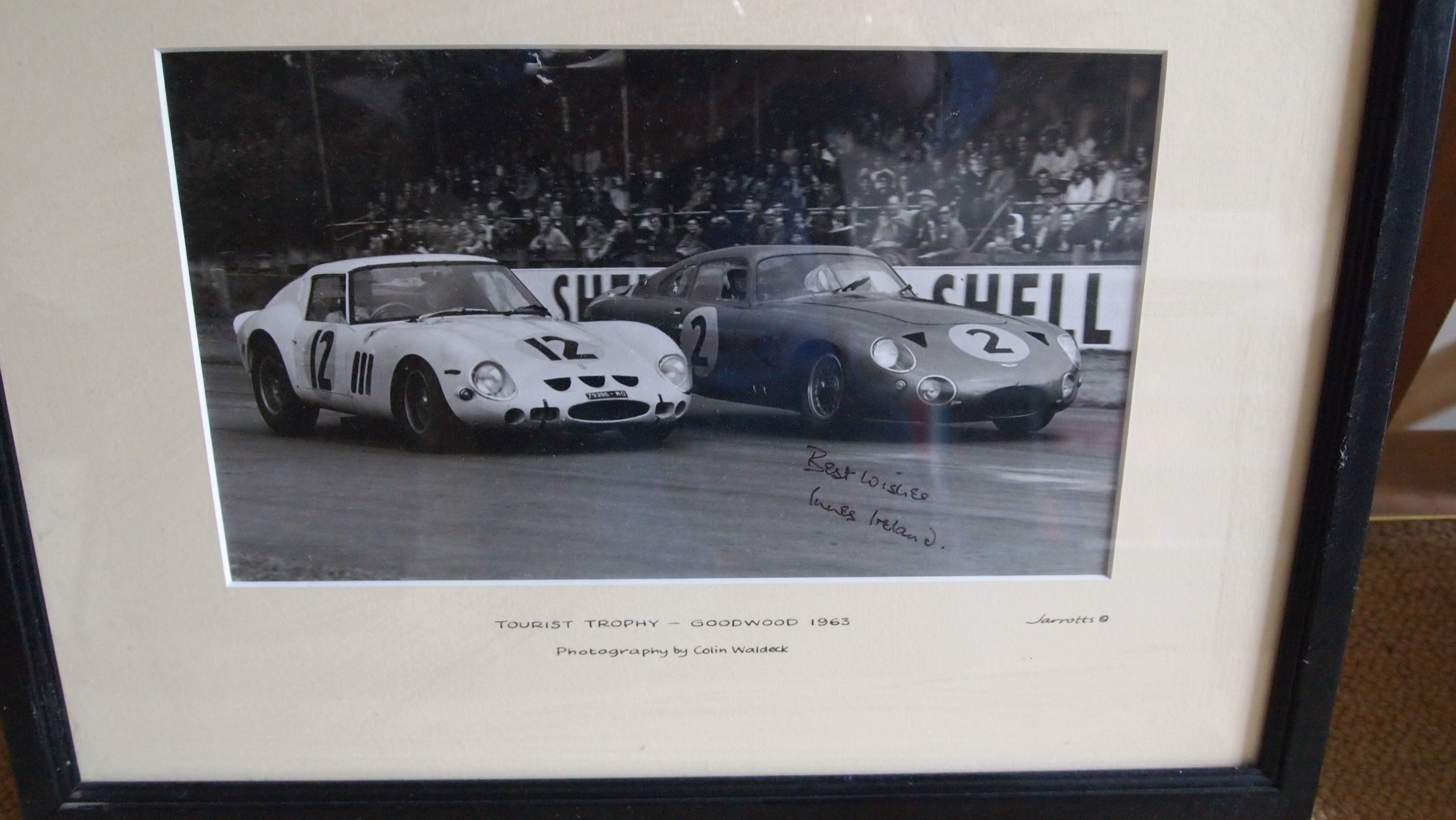 Photo by Colin Waldeck : Ferrari 250 GTO signed by I.Ireland