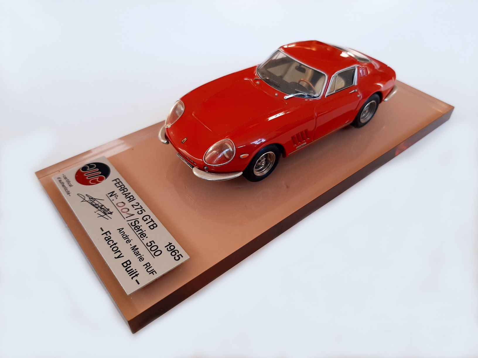 AM Ruf : Ferrari 275 GTB numbered 001 --> RESERVED