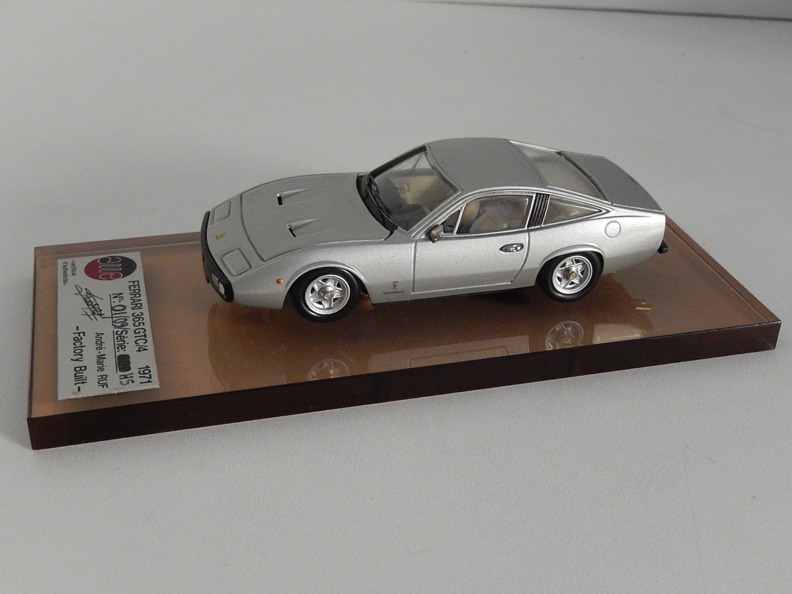AM Ruf : Ferrari 365 GTC4 grey metal N°01/09  --> SOLD